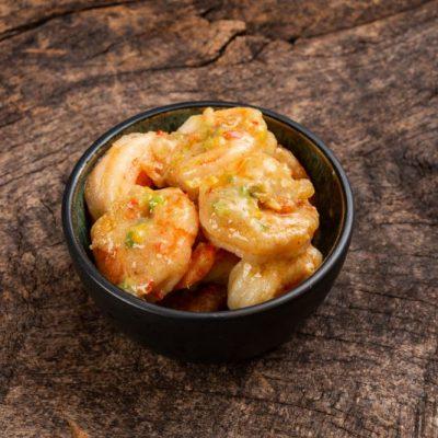 Thai green curry marinerte Scampi