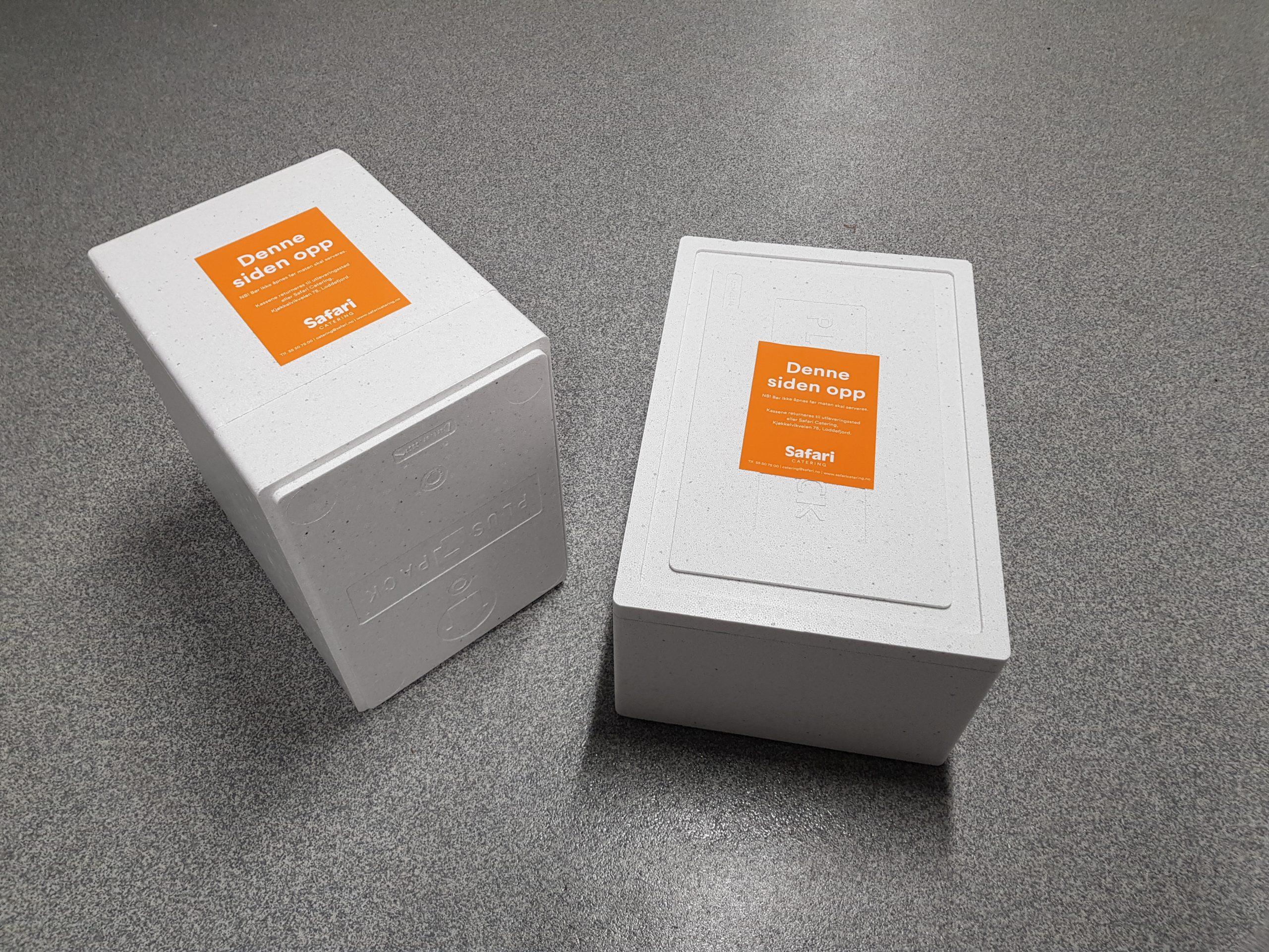 emballasje - isoporkasser