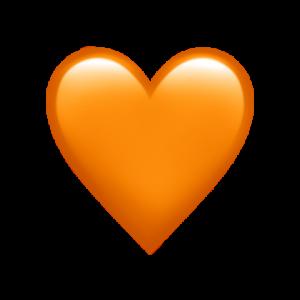 oransje hjerte